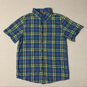 Cat & Jack Blue and Yellow Plaid Button Down Shirt